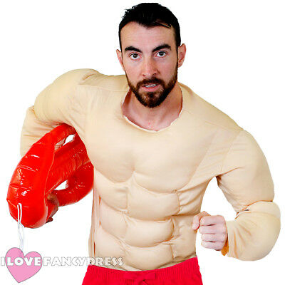 Mens Beach Lifeguard Fancy Dress Costume Muscle Chest 80S 90S Tv Film Character  sc 1 st  PicClick UK & MENS 80S 90S Baywatch Beach Licensed Official Fancy Dress Costume ...