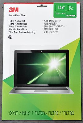 """3M 14"""" Wide Lcd Anti-Glare Screen Filter Ag140W9B For Laptops & Notebooks"""