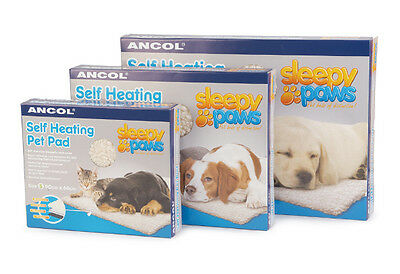Ancol Dog Cat Puppy Kitten Sleepy Paws Self Heating Pet Pad Bed Mat Heat Bed