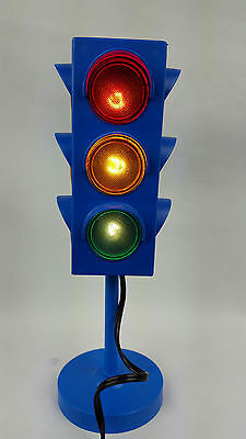 Vintage Traffic Light Lamp Red Yellow Green Stop Lights Kids Room Fun Toy Gift