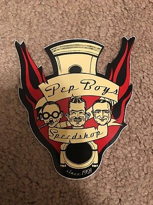 RARE Vintage  Pep Boys Speed Shop decal With Cigar (manny, Moe & Jack)