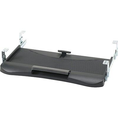 OEM Black Keyboard Tray with Pencil Holder - Black Plastic - With Drawer Slides