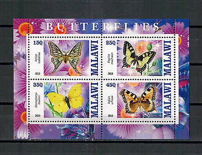 Bloc Sheet Papillons Butterfly  Neuf MNH ** Malawi 2013  Private local/issue