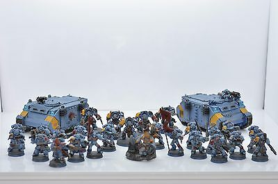 Beautifully painted space wolves force. Warhammer 40k