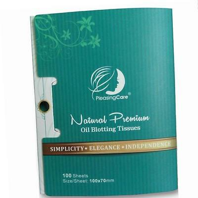 Natural Bamboo Charcoal Oil Absorbing Tissues - 100 Counts