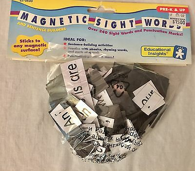 Over 240 Magnetic Sight Words  **FUNDS 2 TRAIN AUTISM SERVICE DOG 4 SON**