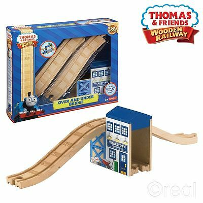 New Thomas & Friends Over And Under Bridge Wooden Railway Playset Official