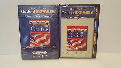 Lot 2 Pearson Prentice Hall CD ROMs Civics Student Teacher Express cd rom NEW