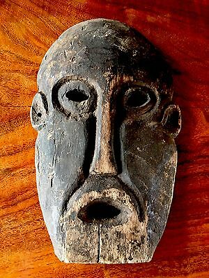 Antique African  wood mask hand carved