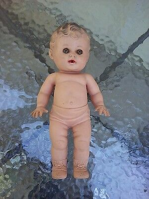 Sun Rubber Doll Boy Toy Tod L Tot Squeaker 10 Inch Vintage 1950s