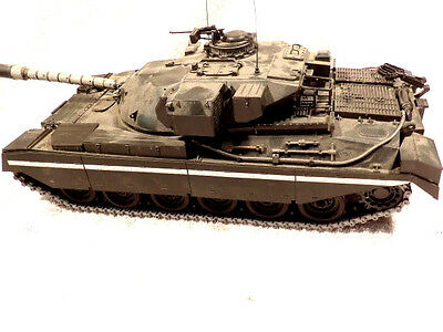 Tamiya 1/25 Scale Motorized Remote Control Built British Chieftain Battle Tank