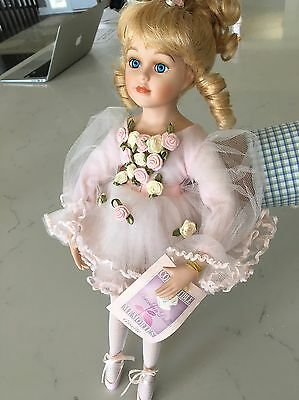 """Beautiful """"Giselle"""" Collectible Memories Porcelain Ballerina Doll 16 inch"""