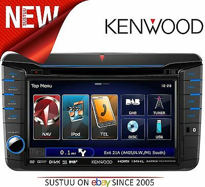"NEW Kenwood DNX 525 DAB 7"" MIB T6 Radio/DVD/DivX/CD/MP3 USB GPS SatNav Bluetooth"
