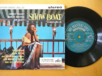 SHIRLEY BASSEY = SHOW BOAT No2 = HMV STEREO 4 TRACK EP = EXCELLENT VINYL +SLEEVE