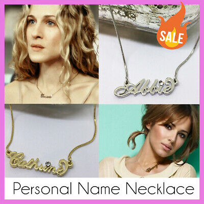 Name Necklace - Personalised Gold / Silver Tone. Christmas Stocking Filler Gift