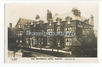 aj0116 - The Brunswick Hotel , Buxton , Derbyshire - postcard