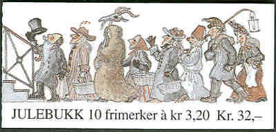 NORWAY #999-1000 (H77) Complete Christmas Booklet, VF,