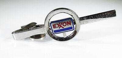 Silver Tone Tie Clip with Exxon Gas and Oil