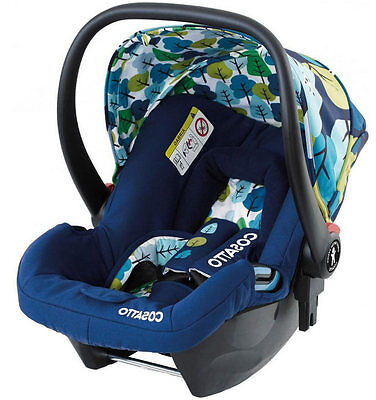 Brand new in box Cosatto hold group 0+ car seat in nightbird from birth to 13kg