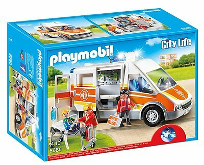 NEW Playmobil 6685 City Life Children's Hospital Ambulance with Lights & Sound