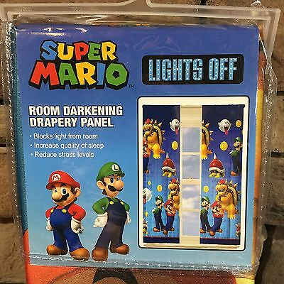Super Mario Lights Out Curtain Panel Room Darkening 42 X 63 In