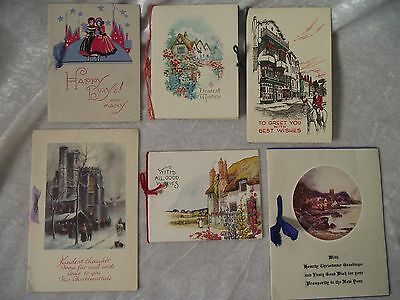 6 x TRADITIONAL VINTAGE CHRISTMAS CARDS lot 4