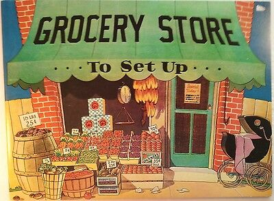 OLD FASHIONED CUT-OUT GROCERY STORE BOOK [Paper Dolls, Uncut]
