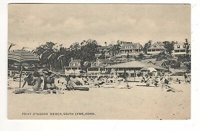 1940 – Point O'Woods Beach – South Lyme, Connecticut Postcard