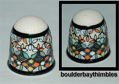 SALE - JAVIER SERVIN HAND PAINTED FINO Thimble GUANAJUATO, MEXICO - NEW BK03