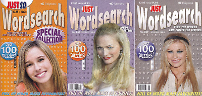 Wordsearch Books - 3 Book set - 315 Puzzles - New  (Set 103)
