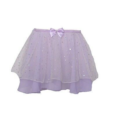Danshuz Toddler Girls Size 2T-3T Lavender Skirt Hologram Dot Dancewear
