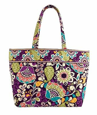 NEW Vera Bradley Grand Tote Bag Plum Crazy  12325137