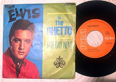 Elvis Presley - Sg In The Guetto / And Day Now  - Spain 1969 - Rca Victor