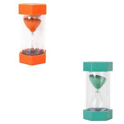 Green/Orange 10 Minutes Sand Timer  Security Fashion Hourglass Kitchen Tool Gift