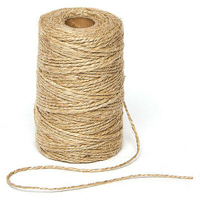 Natural Textured Hessian Jute Twine for Crafting (2mm x 100m)