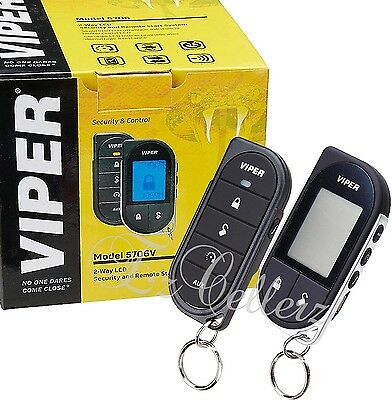 VIPER 5706V Alarm Mobile 2-Way Car Pager Security System w/ Keyless Remote Start