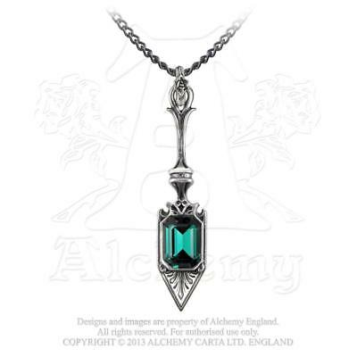 Alchemy Gothic Sucre Vert Absinthe Spoon Hedonistic Crystal Necklace