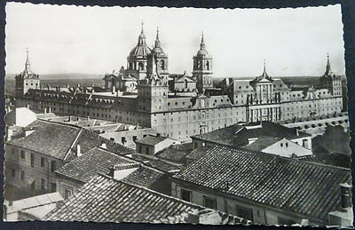 Antigua Postal Monasterio De El Escorial Vista General  Madrid Cc4250