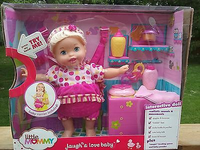 Little Mommy Laugh & Love baby Interactive talking Doll with Accessories