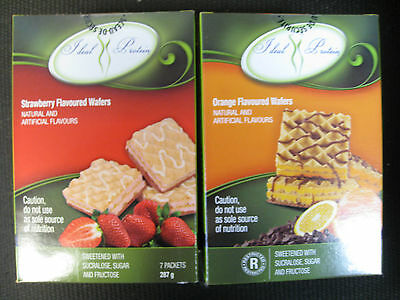 Ideal Protein Wafers (4 Boxes Of 7) (Strawberry And Orange Flavoured)