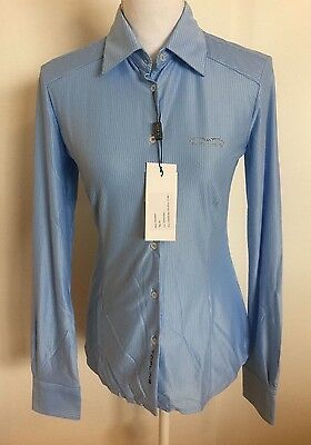 ANIMO Shirt PANAMA New with Tags Blue IT 40 4 6 XS S New Blue White Stripe