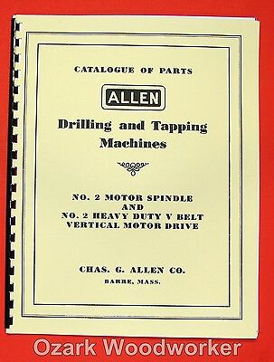 ALLEN No.2 Drilling Tapping Machines Part Manual Older 0005