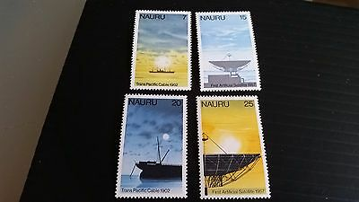 Nauru 1977 Sg 161-164 75Th Anniv Of 1St Trans-Pacific Cable Mnh