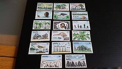 Nauru 1978 Sg 174-190 Definitives Mh