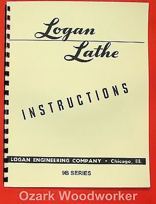 LOGAN 9B Series Metal Lathe Instructions Manual 0462