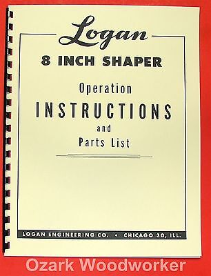 LOGAN Metal Shaper 8 inch Instruction & Parts Manual 0464