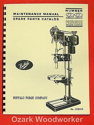 BUFFALO No. 22 Drill Press Operator & Parts Manual 0106