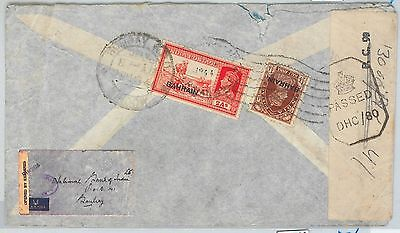 64468  - BAHARAIN - POSTAL HISTORY -  COVER to BOMBAY  1944 - CENSURE BAND