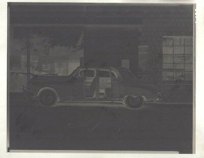 1949 Studebaker in front of Show Room ORIGINAL Factory Photo Negative ww9630