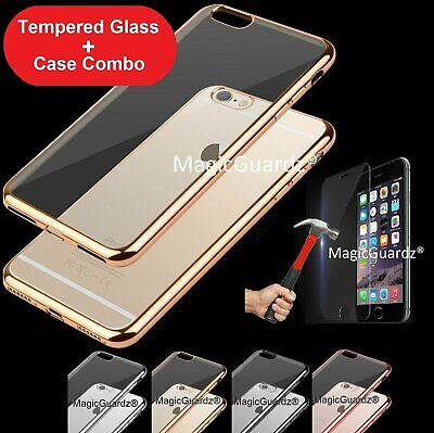 Ultra Thin Slim Hard Case Cover For Apple iPhone 7 8 Plus + Tempered Glass